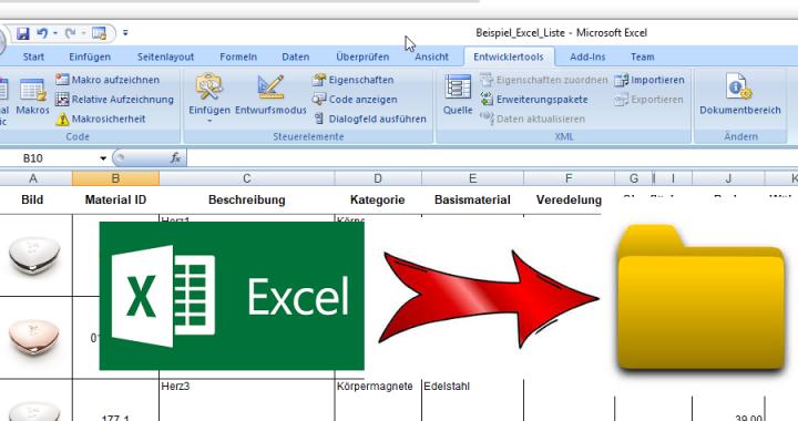HowTo Extrahieren von eingebetteten Bildern aus Excel Datei Artikel ...